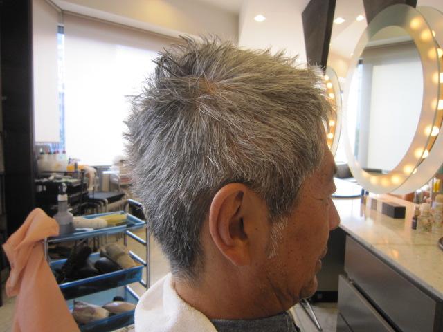 最新のヘアスタイル 40代白髪髪型  ショート