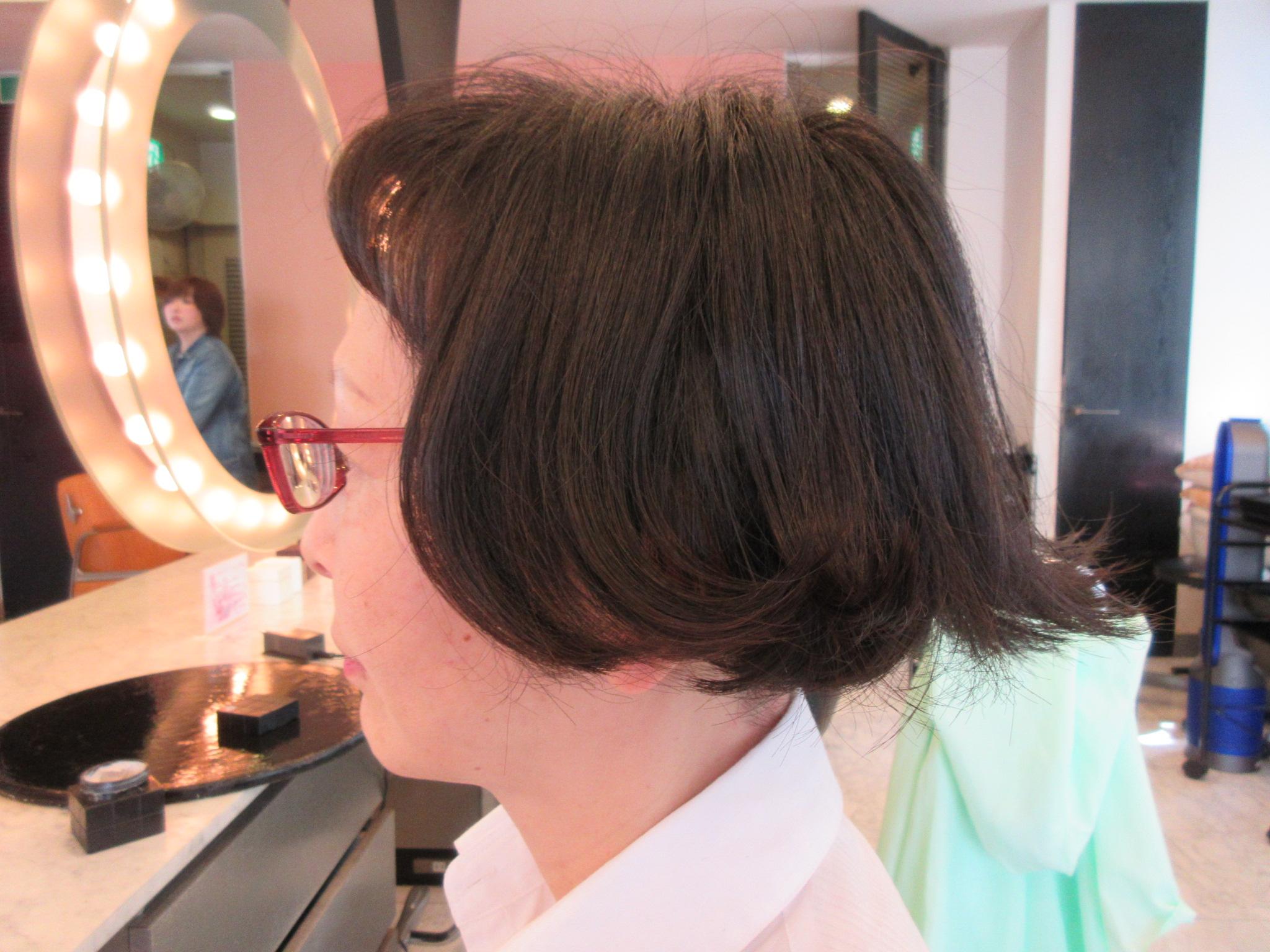 髪型 50 ハネ 代 外
